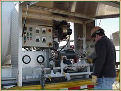 operator performing Aqua Freed treatment